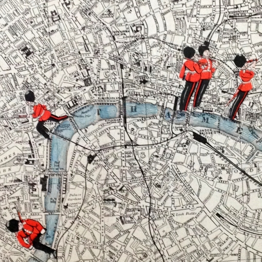 A detail from 'Up and Down the Thames' by Apfelstrudel